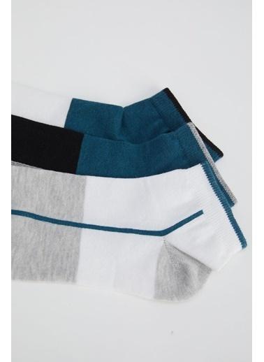 DeFacto Desenli 3'lü Soket Çorap Camel